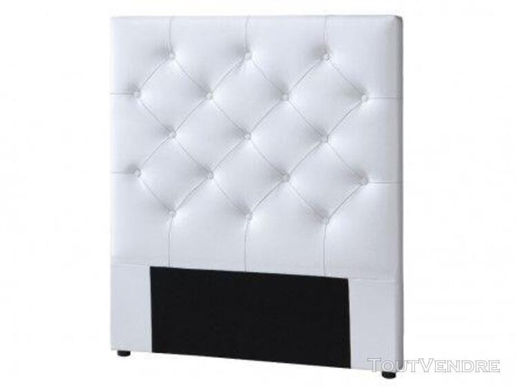 Tête de lit 90 cm enza - simili blanc