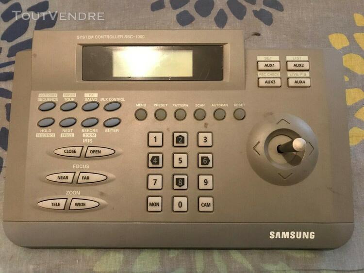 vidéosurveillance joystick ssc-1000 ssc1000 samsung