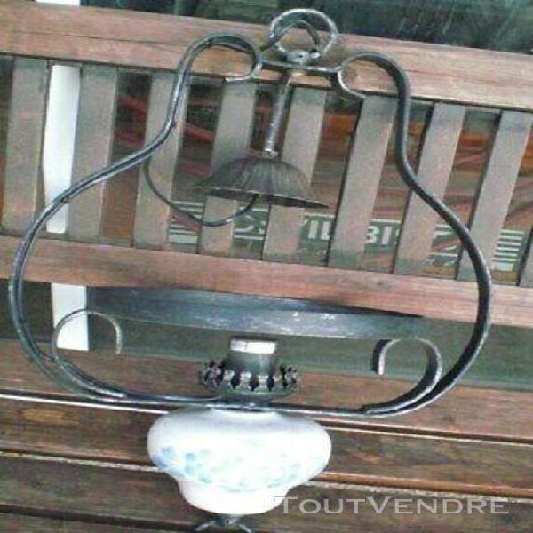 Globe boule gravure LOUIS XV lampe a pétrole lustre luminaire Diam 15 cm Trou 5