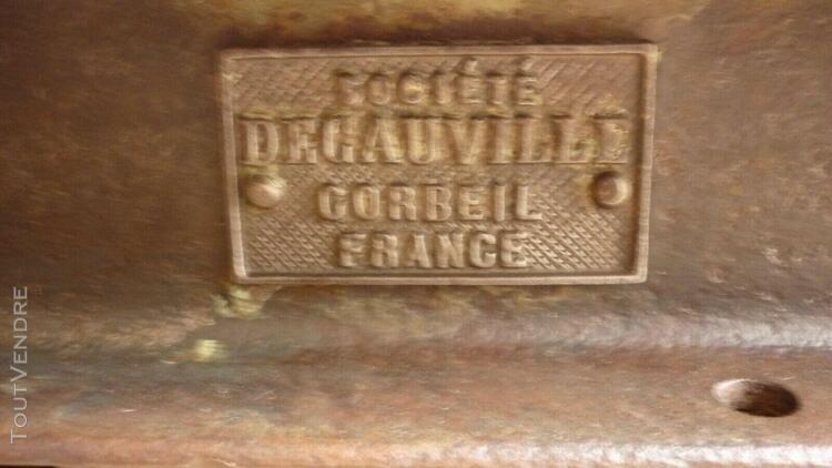 Table basse chemin de fer ancien chariot d'atelier industrie