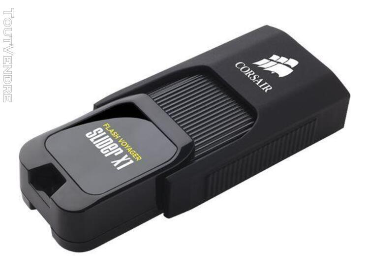 cle usb 3.0 corsair flash voyager slider x1 128go noir