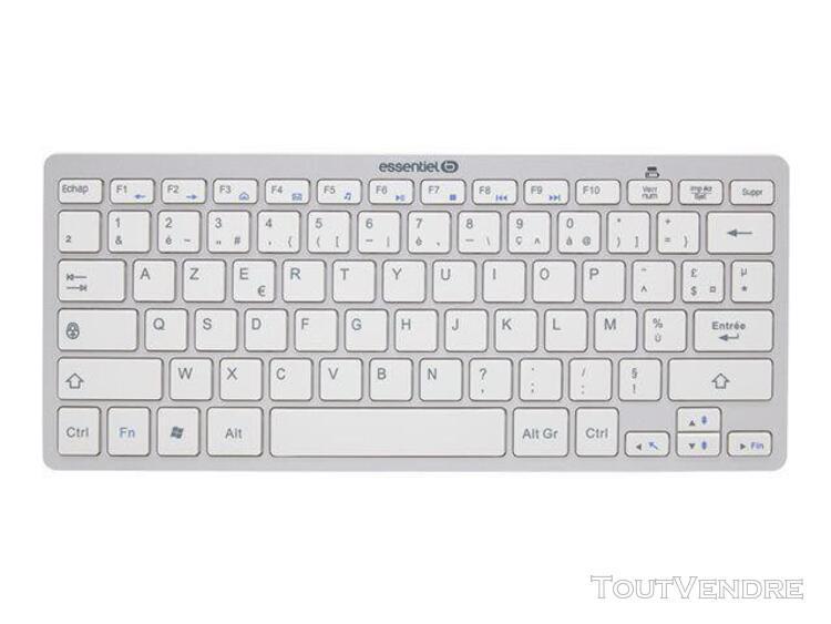 essentielb nomad - clavier - bluetooth - blanc