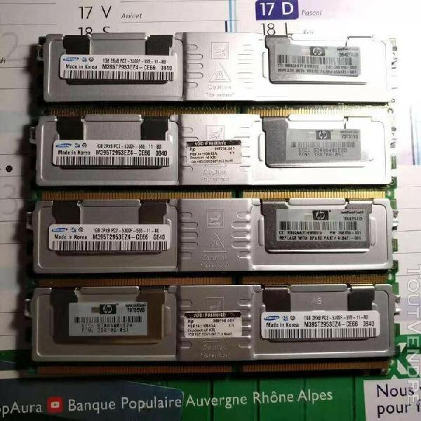 Lot 4 memoire ram samsung 1gb pc2 ddr2 5300f