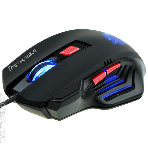 souris filaire gamer rebornleague cardinal