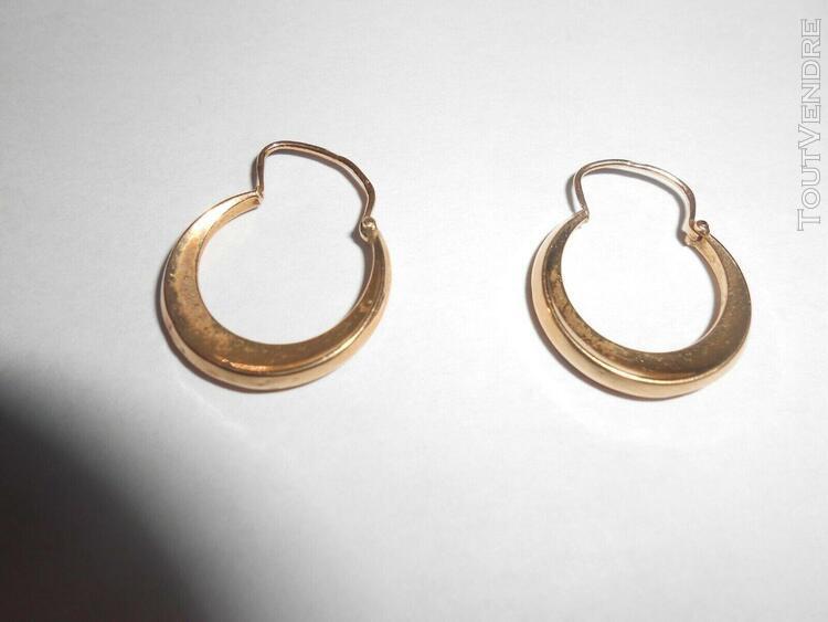 Boucles oreilles anciennes - or