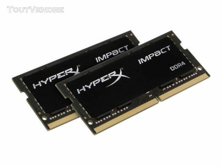 hyperx impact - ddr4 - 16 go: 2 x 8 go - so dimm 260 broches