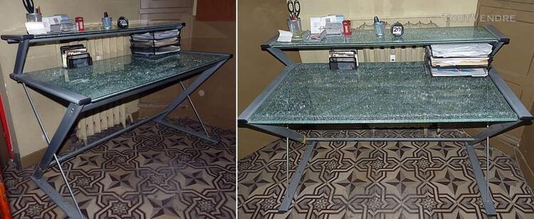 Bureau design métal et verre