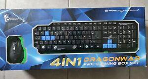 Dragonwar-xpert-pack joueur 4 en 1-clavier+souris+casque