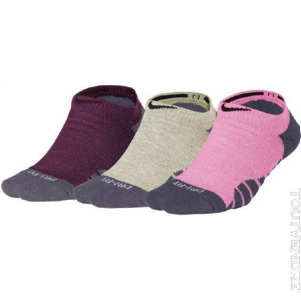 nike w nk everyday max cush ns 3pr chaussettes femme, multi-