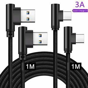 Cable usb type c coudé 90 degrés 1m 1m pour samsung a51