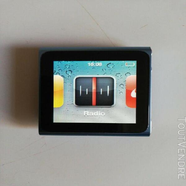 Occasion apple ipod nano 6 generation 8gb bleu cable ecoute
