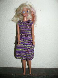 Vêtements tricotés main pour poupées barbie