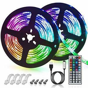 Synchroniser avec la musique Cuisine F/ête etc Mariage Bande LED USB 3M Hually Ruban LED Etanche 5050 RGB avec T/él/écommande IR Ruban Lumineux R/églable 8 Couleurs et 4 Modes pour Maison D/écoration
