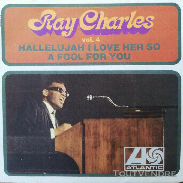 Disque 45 tours ray charles hallelujah i love her so excelle