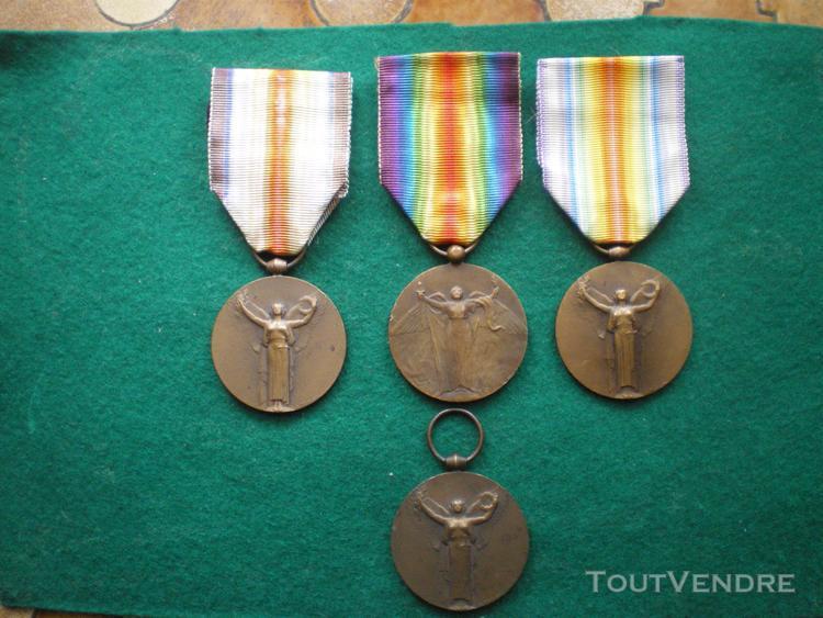 Médailles inter-alliée de la victoire 1918.