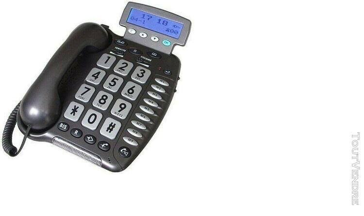 Telephone geemarc cl280 filaire et grosses touches pour mal
