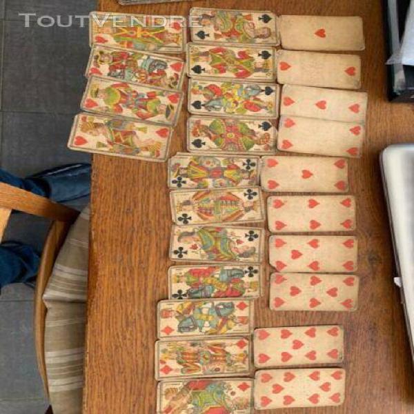 3 jeux tarot et 1 cards carte antique vintage ancien full