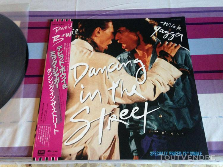 """David bowie and mick jagger dancing in the street 12"""" vinyl"""