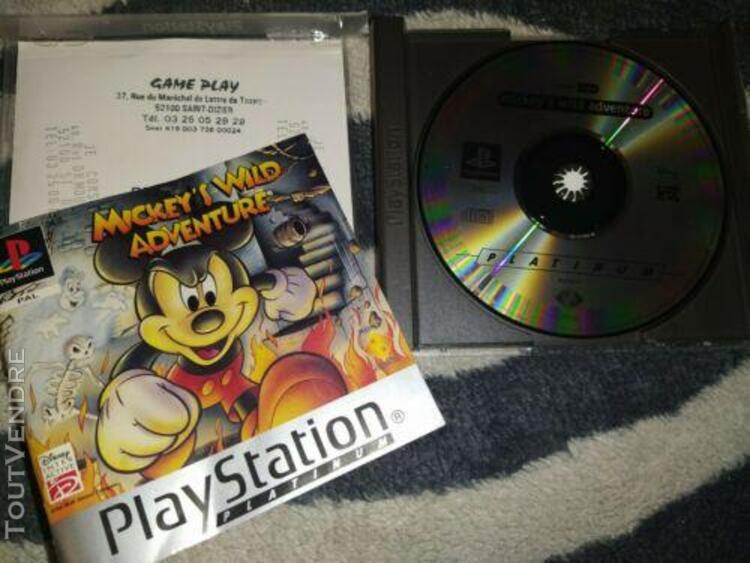 Jeux mickey's wild adventure - sony playstation 1 - ps 1 - c