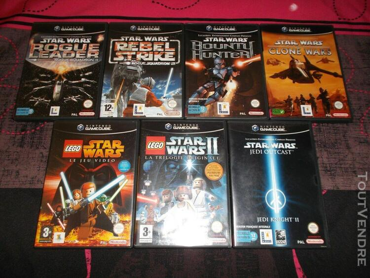 Lot de 7 jeux nintendo game cube star wars complets