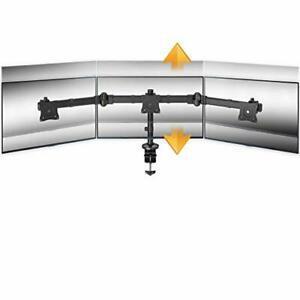 ricoo support pc pour 3 ecrans ts6111 double bras orientable
