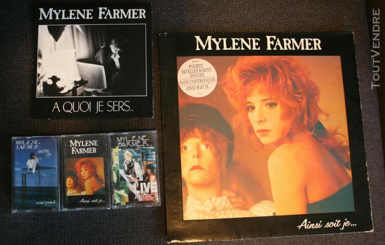 Vinyles 33t 45t et 3 k7 mylène farmer - ainsi soit je -