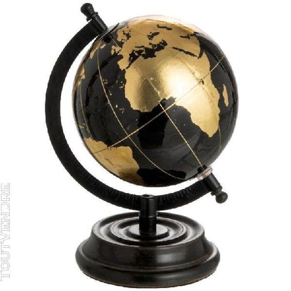Décoration petit globe terrestre noir