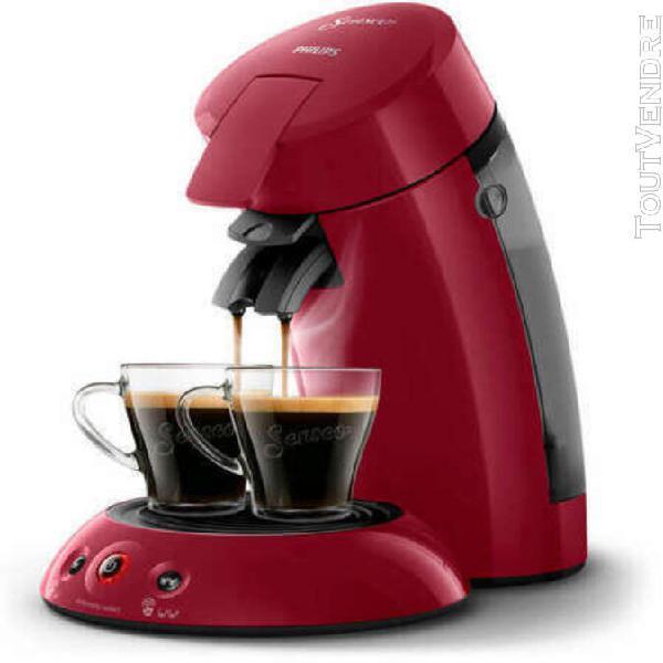 Machine senseo cafetière rouge café à dosettes