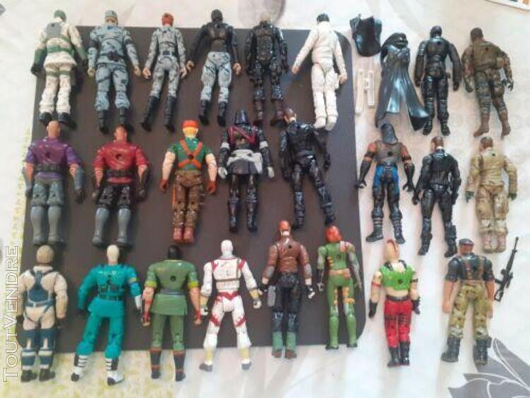 Lot figurines vintages g.i. joe - hasbro-une vingtaine de pe