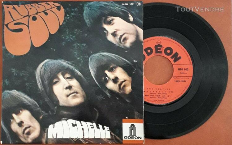 45t 4 titres the beatles 1966 rubber soul michelle meo 102