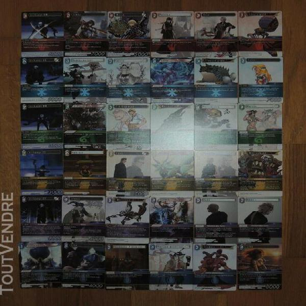 Final Fantasy TCG Opus 8 FR Lot complet des 36  cartes RARES
