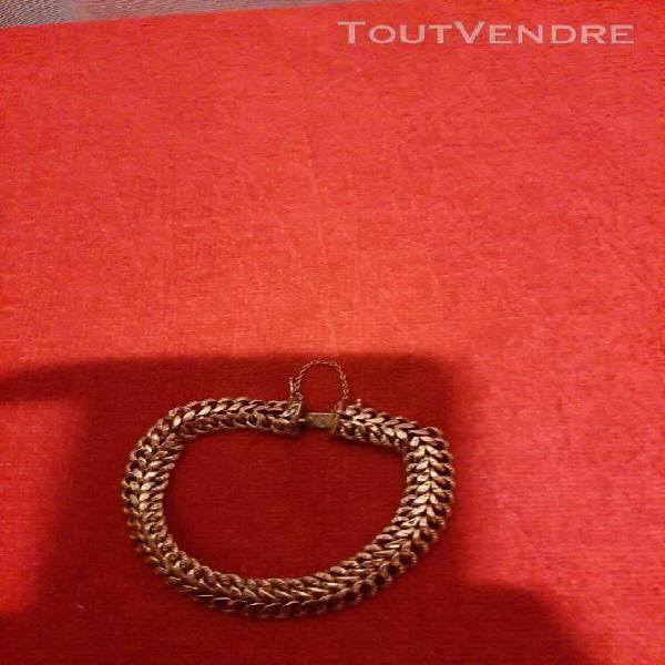 Bracelet Maille Cheval  21CM Argent Massif 925//1000 Poinçonné Bijoux Neuf