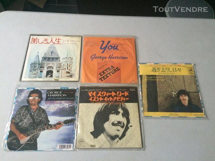 "Job lot 7"" singles x 5 george harrison japan"