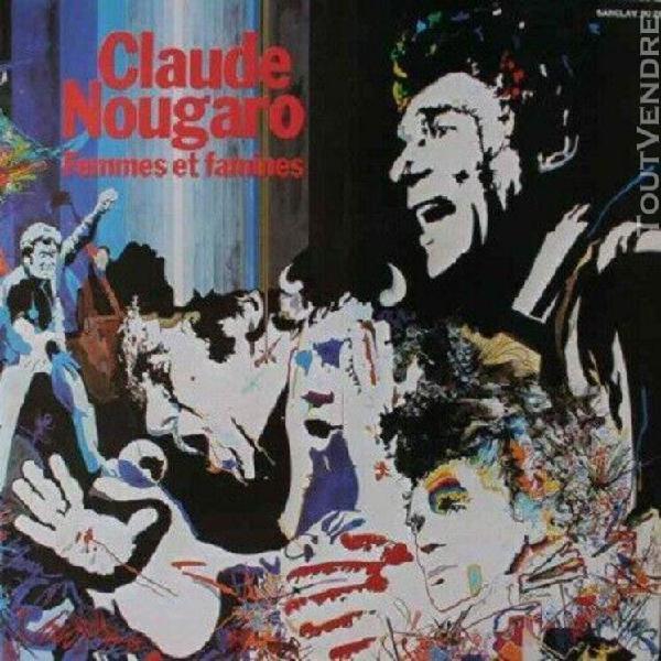 """Lp/33t claude nougaro """"femmes et famines"""" (vinyle vg++/vg++)"""