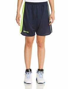 Spalding 4her ii short de basket femme bleu marine/jaune