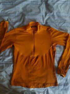Tee shirt sport montagne randonnee dynafit orange zip col