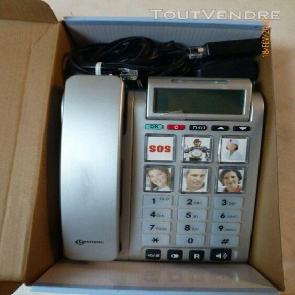 Geemarc - téléphone grosses touches pour senior -