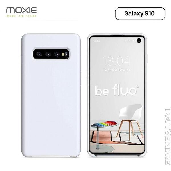 Moxie coque galaxy s10 [befluo®] coque silicone fine et