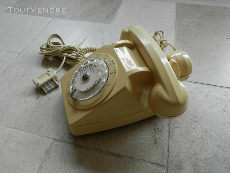 Telephone s 63 vintage ivoire fonctionne testé