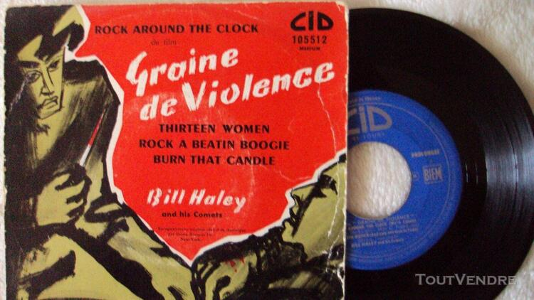 Ep disque vinyle 45 tours bill haley graine de violence rock