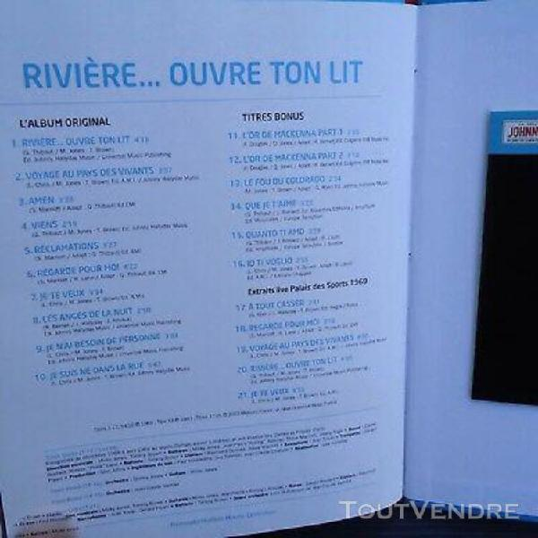 "Johnny hallyday collector livre cd 1969 ""rivière...ouvre"