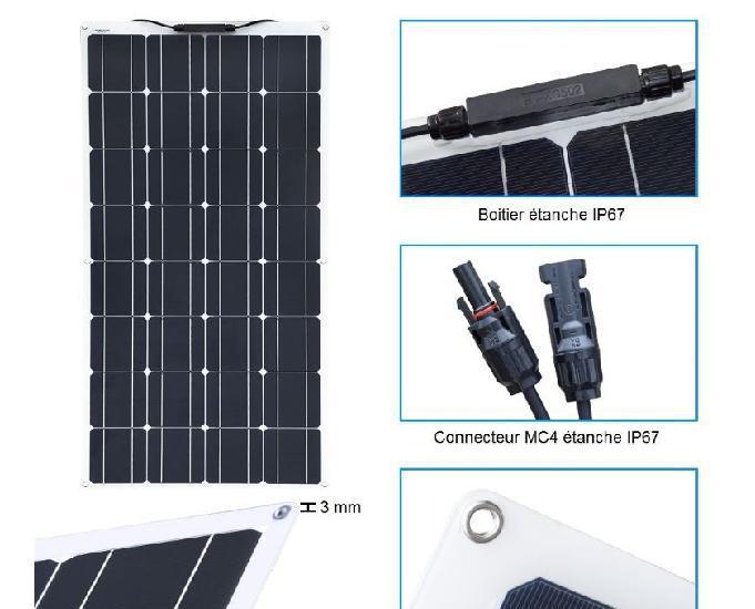 Panneau solaire 100w flexible + régulateur neuf