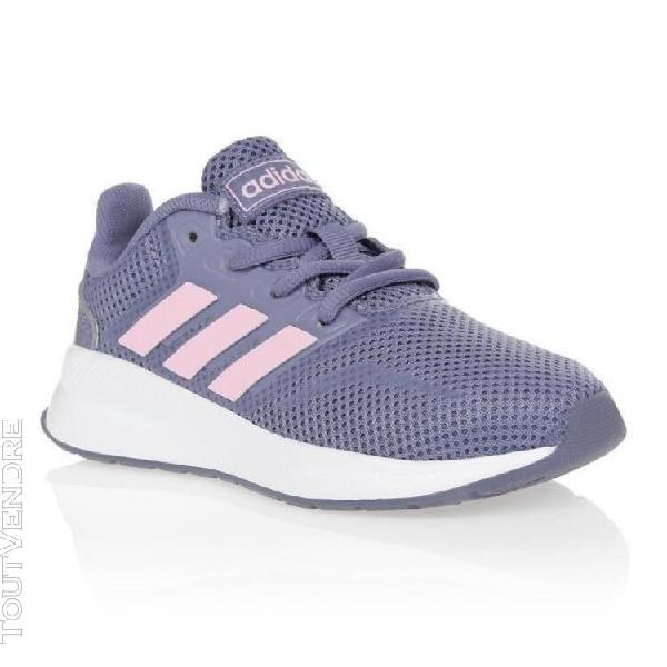 Adidas baskets run falcon k - enfant - gris et rose - 31 adi