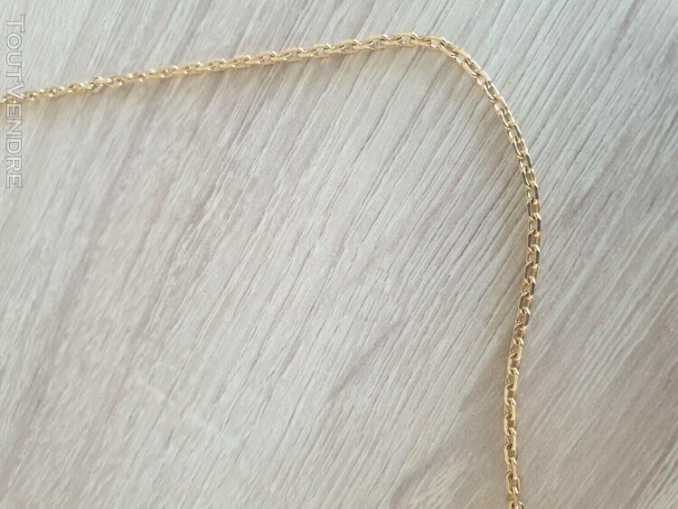 chaine en or poincon aigle 18 carats 750 maille diamantee