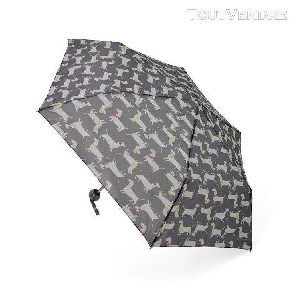 Drizzles - parapluie compact motif chien femme (gris) - utum