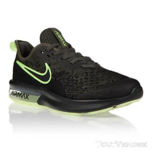 Nike baskets air max sesquent 4 - mixte - noir et jaune - 37