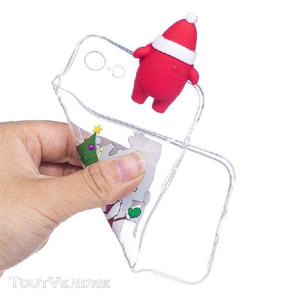 Noël 3d cartoon kawaii toy soft tpu back case cover for