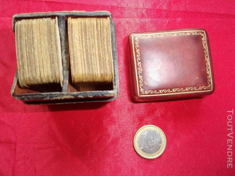 Jeux anciens jeu de cartes miniature 1950 italie boîtier