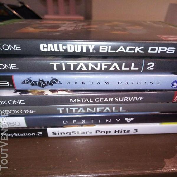 Jeux vidéos x box one et ps3