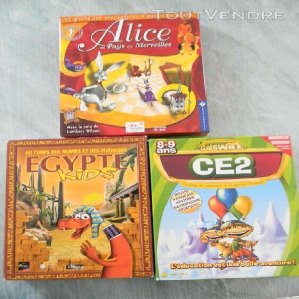 Lot cd jeux pc educatifs